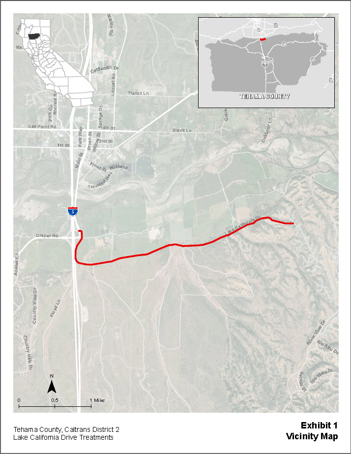 Lake California Drive Vicinity Map